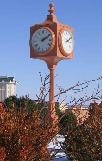 Image of Oklahoma Centennial Clock installation